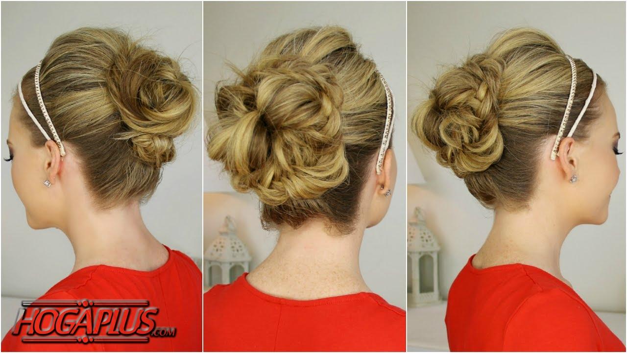 Fishtail Bun For Wedding Day